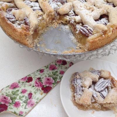 עוגת טארט תפוחים ואגוזי פקאן