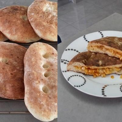 לחם מרוקאי - פרנה ממולאת