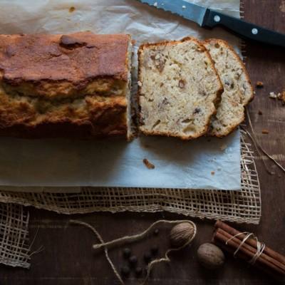 עוגת בננה, פקאן ותבלינים
