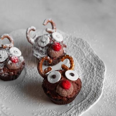 קאפקייק שוקולד לחג המולד