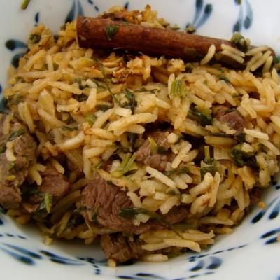 בשר ואורז בטעמים וריחות מהמזרח הרחוק