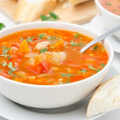 מרק שעועית גזר וגמבה אדומה