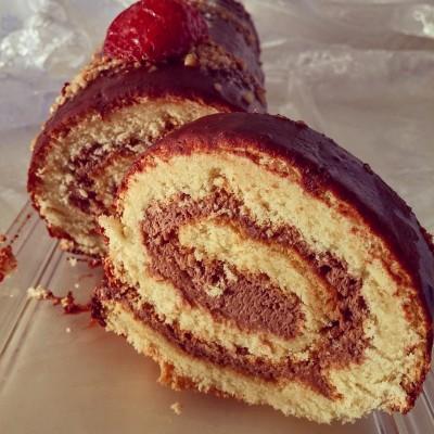 רולדה במילוי קרם שוקולד