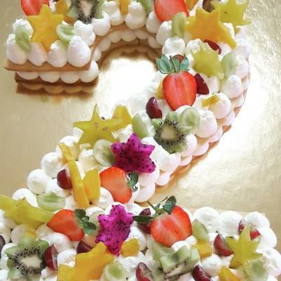 עוגת מספרים בצק שקדים פריך