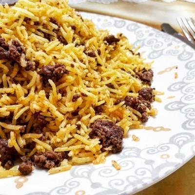 אורז עם בשר הל וקינמון