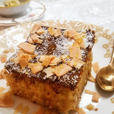 עוגת סולת ריבת תפוזים