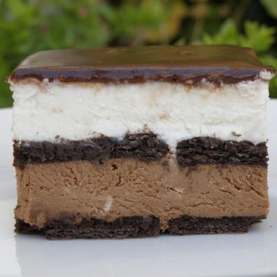 עוגת ביסקוויטים בשני שוקולדים