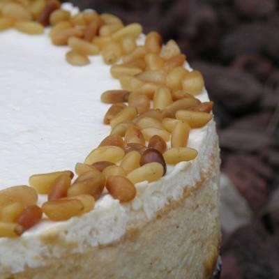 עוגת גבינה אפויה בסגנון ים תיכוני
