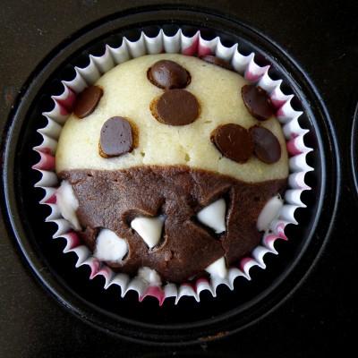 מאפינס חצי חצי – שוקולד ווניל