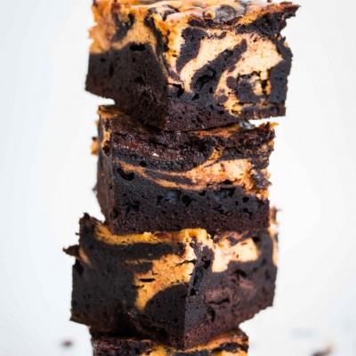 בראוניז שוקולד-דלעת-גבינה