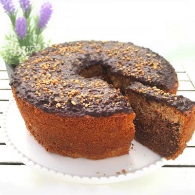 עוגת שיש שוקולדית מקמח כוסמין