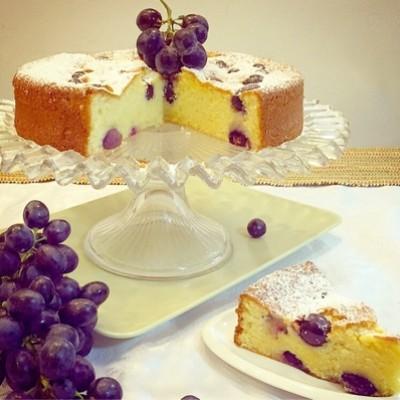 עוגת ענבים ולימון איטלקית