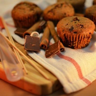 מאפינס שוקולד וקינמון
