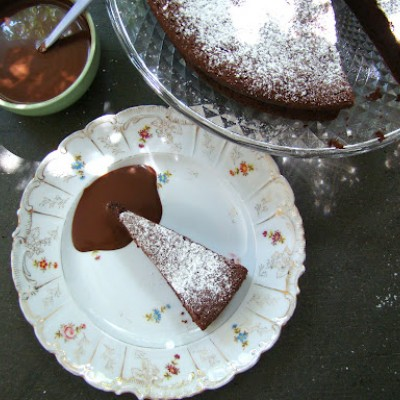 עוגת סופלה שוקולד מימי קרם פרש