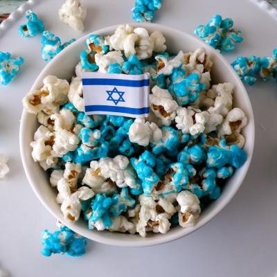 פופקורן מתוק כחול לבן